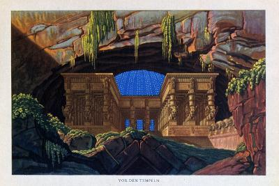 The Temple of Isis and Osiris from the Magic Flute, 1816-Karl Friedrich Schinkel-Giclee Print