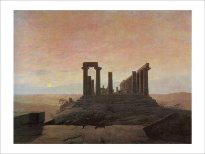 The Temple of Juno at Agrigento-Caspar David Friedrich-Giclee Print