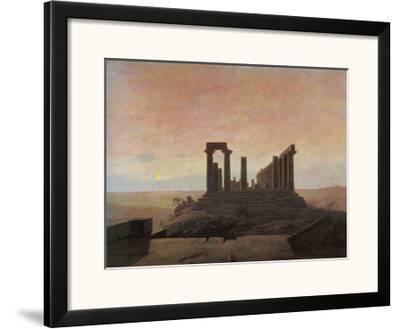 The Temple of Juno at Agrigento-Caspar David Friedrich-Framed Giclee Print
