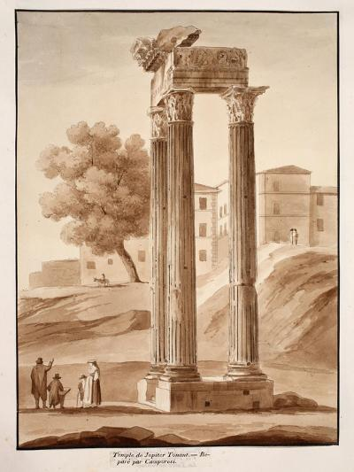 The Temple of Jupiter Tonans - Restored by Camporesi, 1833-Agostino Tofanelli-Giclee Print