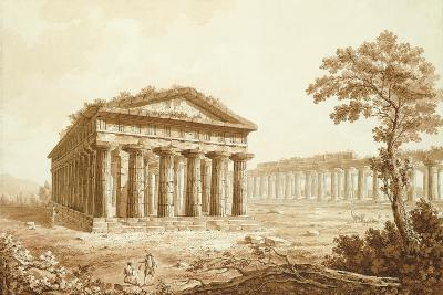 The Temple of Neptune and the Basilica at Paestum-Franz Kaisermaan-Giclee Print