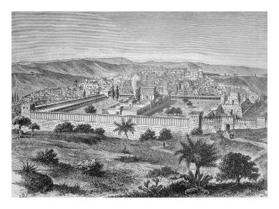 The Temple of Solomon in Jerusalem in the time of Jesus Christ, 1886--Giclee Print