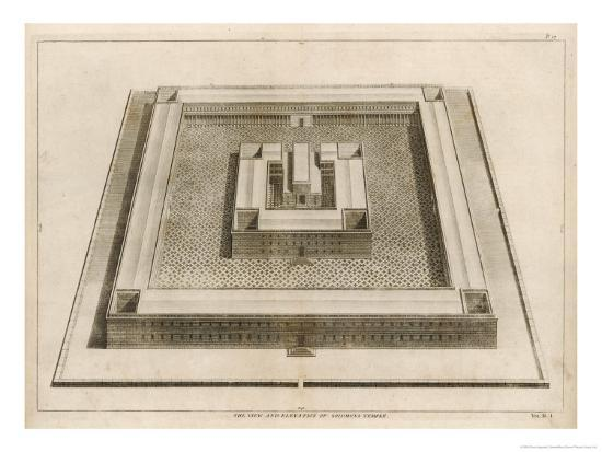 The Temple of Solomon-Dom Augustin Calmet-Giclee Print