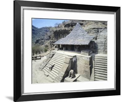 The Temple of the Eagles in Malinalco--Framed Giclee Print