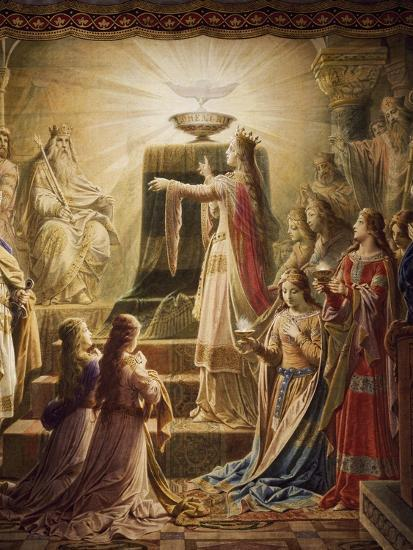 The Temple of the Holy Grail, Lohengrin Mural Cycle-Wilhelm Hauschild-Giclee Print