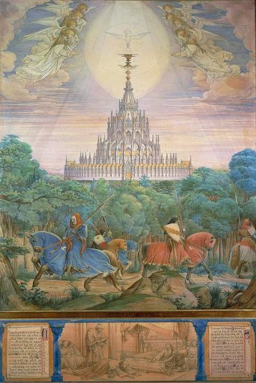 The Temple of the Holy Grail-Edward von Steinle-Giclee Print
