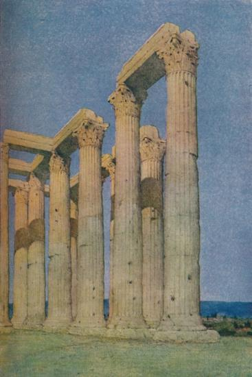 'The Temple of the Olympian Zeus at Athens', 1913-Unknown-Photographic Print