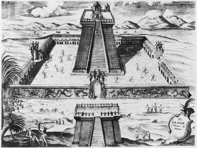 "The Templo Mayor at Tenochtitlan, from ""Historia de Nueva Espana"", 1770--Giclee Print"