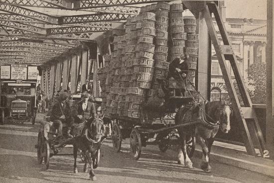 'The Temporary Bridge', c1925, (1935)-Unknown-Photographic Print