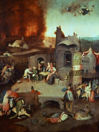 The Temptation of Saint Anthony of Egypt 251-356 founder of monasticism-Hieronymus Bosch-Giclee Print