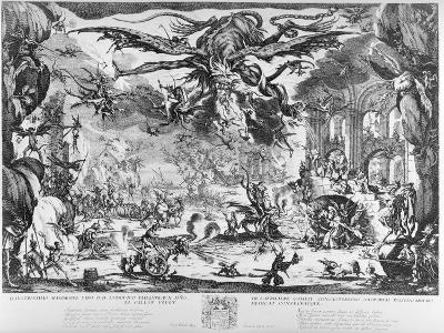 The Temptation of St. Anthony, 1635-Jacques Callot-Giclee Print