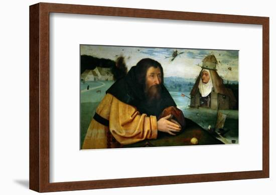 The Temptation of St. Anthony Abbot, the Head of an Abbess Sits Atop a Whorehouse-Hieronymus Bosch-Framed Giclee Print