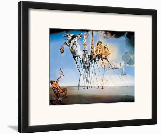 The Temptation of St. Anthony, c.1946-Salvador Dalí-Framed Art Print