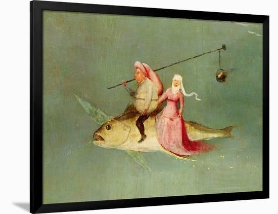 The Temptation of St. Anthony, Right Hand Panel, Detail of a Couple Riding a Fish-Hieronymus Bosch-Framed Premium Giclee Print