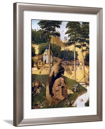 The Temptation of St-Hieronymus Bosch-Framed Art Print