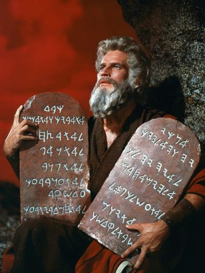 The Ten Commandments, Charlton Heston, 1956--Photo