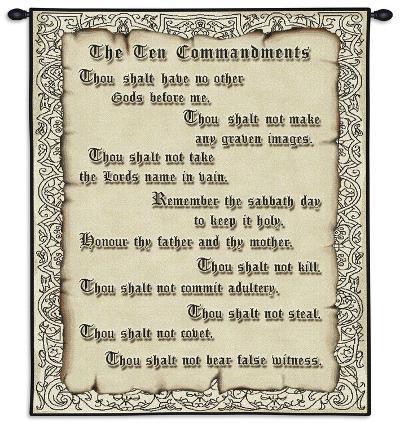 The Ten Commandments--Wall Tapestry
