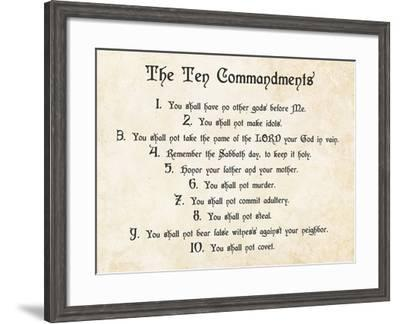 The Ten Commandments-Veruca Salt-Framed Art Print