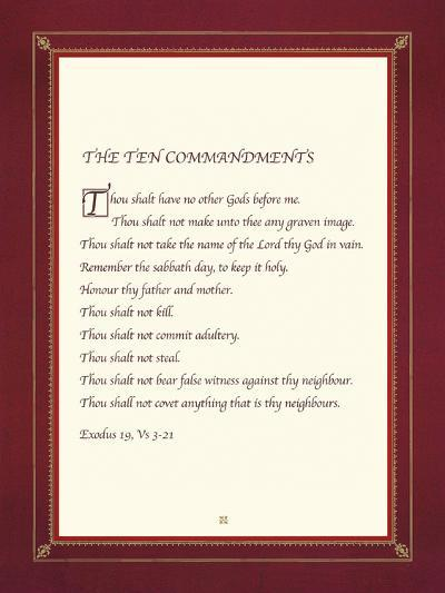 The Ten Commandments-The Inspirational Collection-Giclee Print
