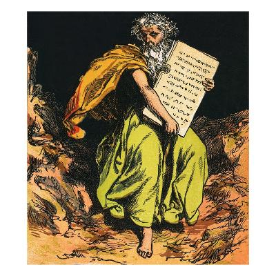 The Ten Commandments-English-Giclee Print