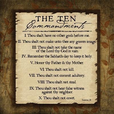The Ten Commandments-Jennifer Pugh-Art Print
