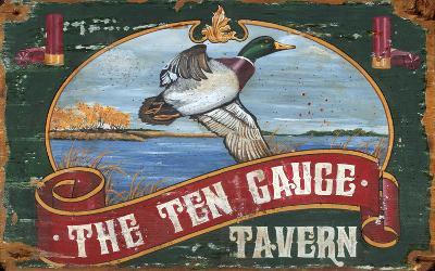 The Ten Gauge Tavern Mallard Vintage Wood Sign--Wood Sign