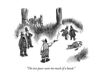 """""""The ten paces were too much of a hassle."""" - New Yorker Cartoon--Premium Giclee Print"""