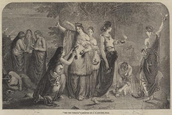The Ten Virgins-James Eckford Lauder-Giclee Print