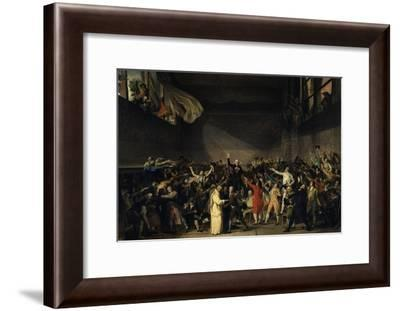 The Tennis Court Oath, June 20, 1789-Jacques Louis David-Framed Giclee Print