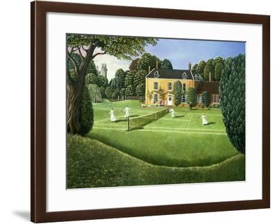 The Tennis Match, 1980-Liz Wright-Framed Giclee Print