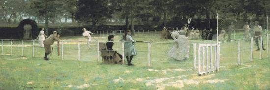 The Tennis Party-Sir John Lavery-Giclee Print