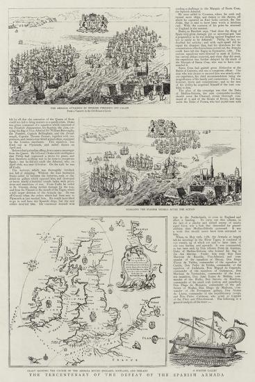 The Tercentenary of the Defeat of the Spanish Armada--Giclee Print