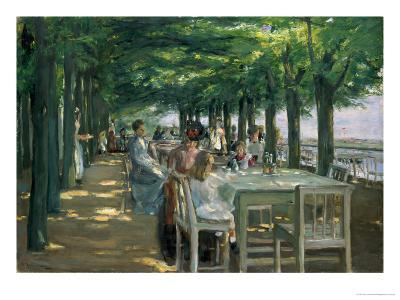 The Terrace at the Restaurant Jacob in Nienstedten on the Elbe, 1902-Max Liebermann-Giclee Print