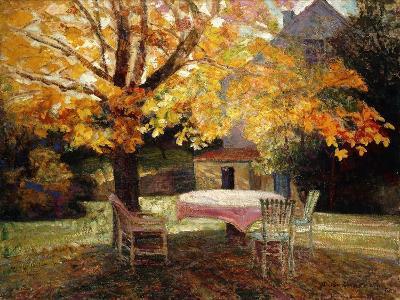 The Terrace, Autumn-Victor Charreton-Giclee Print