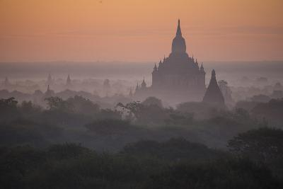 The Terraces of a Buddhist Temple in Bagan-Cory Richards-Photographic Print