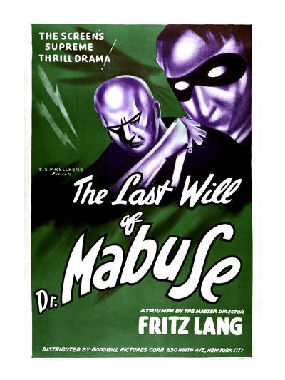 The Testament Of Dr. Mabuse, (aka Das Testament Des Dr. Mabuse), 1933--Photo