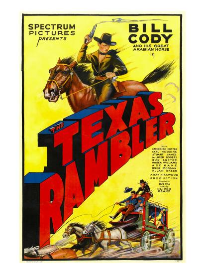 The Texas Rambler, Top Half: Bill Cody, 1935--Photo