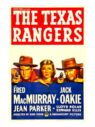 The Texas Rangers, Fred Macmurray, Jean Parker, Jack Oakie, 1936--Photo