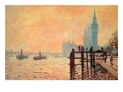 The Thames and Westminster-Claude Monet-Art Print