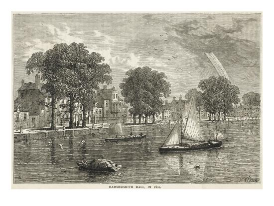 The Thames at Hammersmith Mall--Giclee Print
