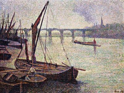 The Thames at Vauxhall Bridge-Maximilien Luce-Giclee Print