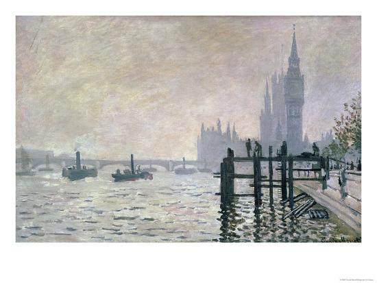 The Thames Below Westminster 1871 Giclee Print Claude Monet Art Com