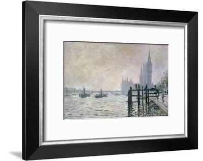 The Thames Below Westminster, 1871-Claude Monet-Framed Giclee Print