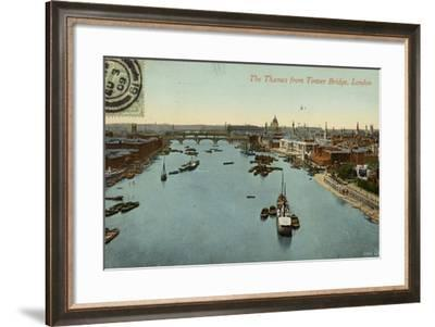 The Thames from Tower Bridge, London--Framed Photographic Print