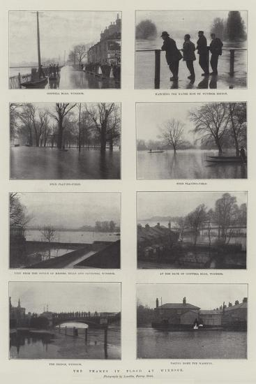 The Thames in Flood at Windsor--Giclee Print