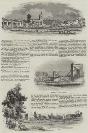 The Thames Regatta--Giclee Print