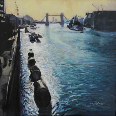 The Thames - Summer Morning-John Erskine-Giclee Print