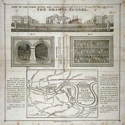 The Thames Tunnel, London, 1827--Giclee Print