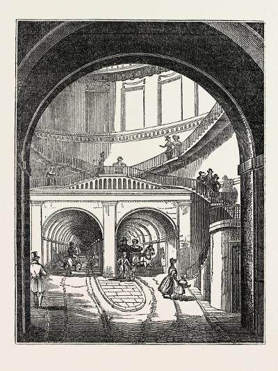 The Thames Tunnel: the Rotherhithe Shaft, or Descent--Giclee Print