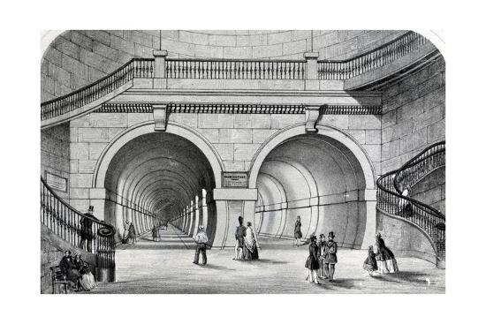 The Thames Tunnel--Giclee Print